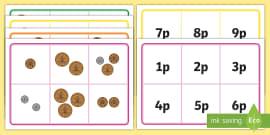 photograph regarding Money Bingo Printable called British Financial Coin Popularity Matching Bingo Video game - financial, coin