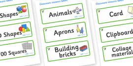 Dinosaur Themed Editable Classroom Resource Labels