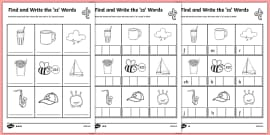 Find and Write 'qu' Words: Phonics Worksheet