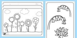T T 5689 Flowers Colouring Sheets ver 2