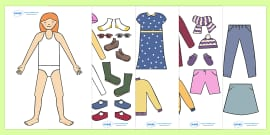 Seasonal Clothing Dressing Up Activity (Girls)