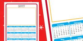2017 Calendar Christmas Gift