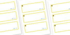 Sunflower Themed Editable Drawer-Peg-Name Labels (Blank)