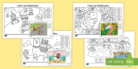 t-n-7576-times-tables-colour-by-number-activity-sheets-_ver_1 O Clock Worksheet Eyfs on filling minutes, office hours time, blank face template, telling time, reading digital, learning time, for class 2, first grade,