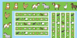 Farm Animal Display Borders