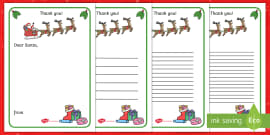 thank you letter to santa writing template