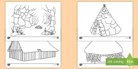 Houses and homes coloring pages for preschool, kindergarten and elementary  school children to print and color. Description fro…   Kleurplaten, Huis  tekenen, Kleuren   135x270