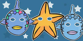 Story Role Play Masks to Support Teaching onThe Rainbow Fish