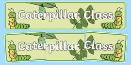 Caterpillar Class Display Banner