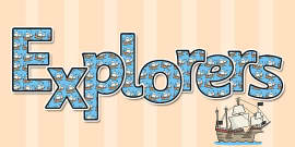 Explorers Display Lettering