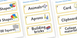 Rabbit Themed Editable Classroom Resource Labels