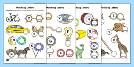 Upper Case and Lower Case Matching Worksheet alphabet upper