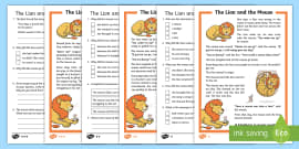 The Lion and the Mouse Differentiated Reading Comprehension Activity