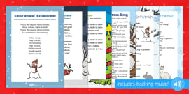 Snowman Songs and Rhymes Resource Pack