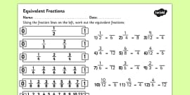 Fractions Maze Activity Sheet - fractions, fractions maze