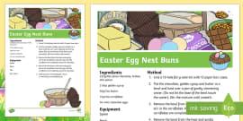 Easter Egg Nests Recipe Sheets