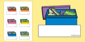 Lunch Box Themed Self Registration Labels
