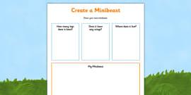 Create a Minibeast Activity Sheet