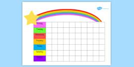 Editable Rainbow Reward Chart