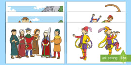 The Pied Piper Story Cut Outs