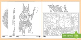 Ks2 Viking God Colouring Sheets Teacher Made