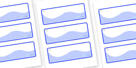 Polar Bear Themed Editable Drawer-Peg-Name Labels (Colourful)