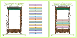 Princess and the Pea Number Mattress Sequencing Activity