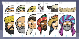 Nativity Role Play Masks