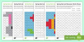 Spring Phase 5 Phonics Mosaic Activity Sheet
