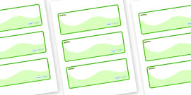 Caterpillar Themed Editable Drawer-Peg-Name Labels (Colourful)