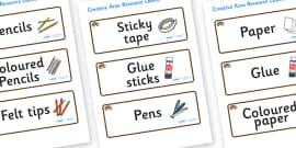 Hedgehog Themed Editable Creative Area Resource Labels