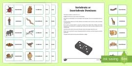Invertebrate or Vertebrate Dominoes