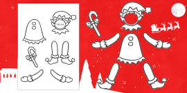 Make Yourself An Elf Colour And Cut Out Template