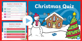 Christmas Quiz PowerPoint (teacher made)
