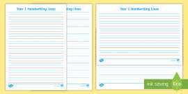 FREE! - Lined Paper Template Pack - KS1 Resource