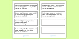 How Can You Help? Scenario Discussion Cards