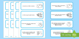 Neil Armstrong Differentiated Sorting Cards