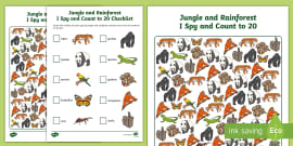 FREE! - My Counting Worksheet (Jungle & Rainforest