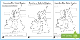 Map Of England Outline Printable.Great Britain Map Outline Primary Resource
