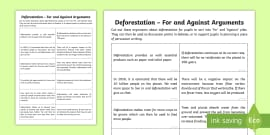 Deforestation persuasive writing