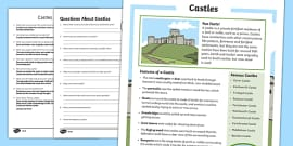 Castles Differentiated Reading Comprehension Activity
