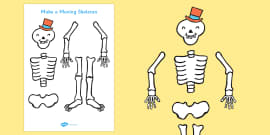 Make a Moving Skeleton Cutting Activity (A4) to Support Teaching on Funnybones