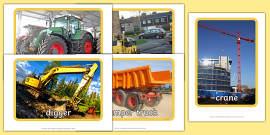 Building Site Construction Vehicles Display Photos