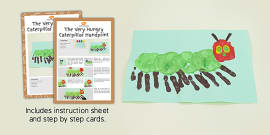 Handprint Craft Instructions to Support Teaching on The Very Hungry Caterpillar