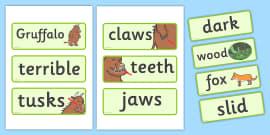 The Gruffalo Word Cards