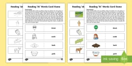 Reading 'th' Words Card Game