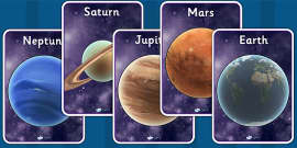 The Planets Display Posters Detailed Images