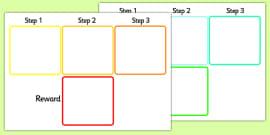 Visual Timetable Steps and Reward
