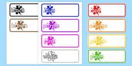 Editable Drawer - Peg - Name Labels (Colours)