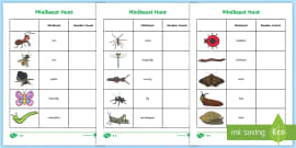 Minibeast Hunt Tally Sheet
